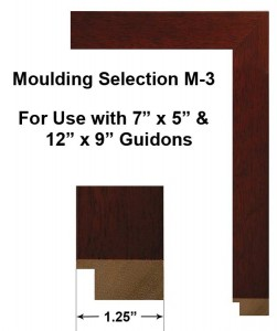 Framed Guidons Moulding Selection M-3