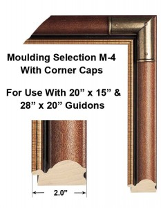 Framed Guidons Moulding Selection M-4 With Corner Caps