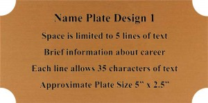 Framed Guidons Name Plate Selection NP1