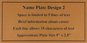 Framed Guidons Name Plate Selection NP2
