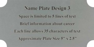 Framed Guidons Name Plate Selection NP 3