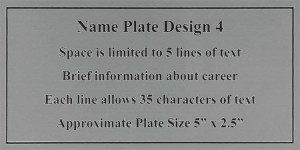 Framed Guidons Name Plate Selection NP4
