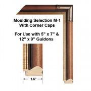 Moulding Selection M-1 With Corner Caps Framed Guidons