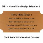 Name Plate Selection NP1 - Design 1 Framed Guidons