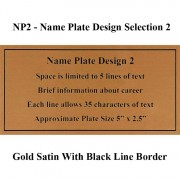 Name Plate Selection NP2 - Design 2 Framed Guidons
