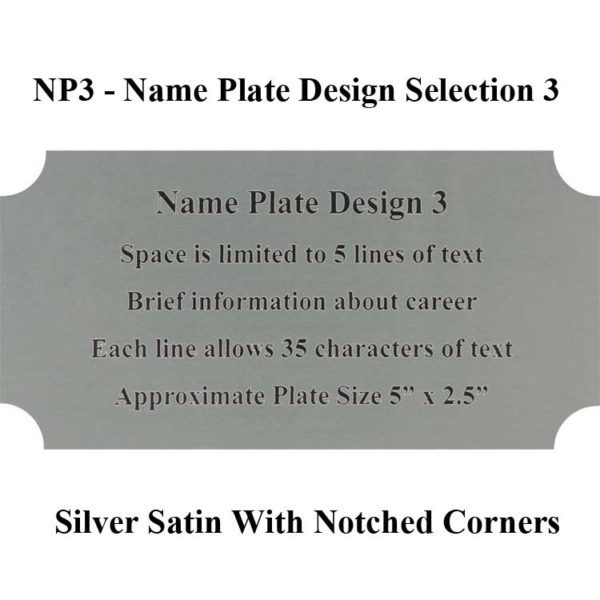 Name Plate Selection NP4 - Design 3 Framed Guidons