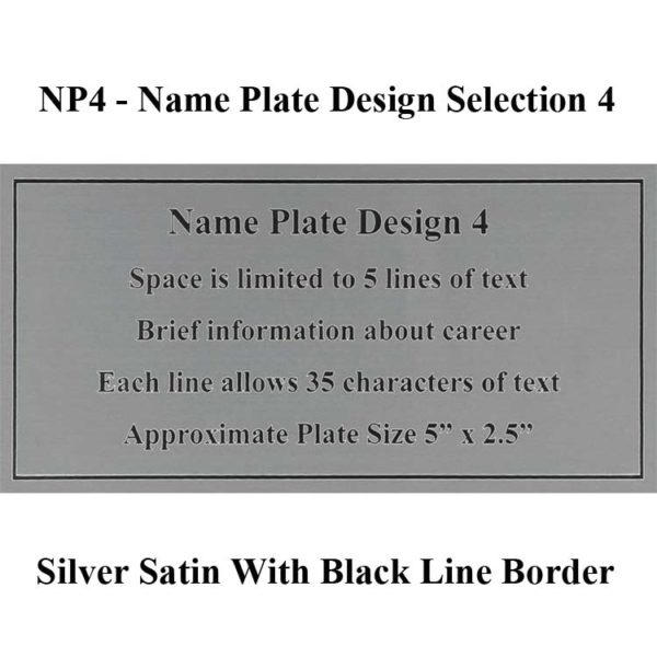Name Plate Selection NP4 - Design 4 Framed Guidons