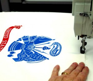 Sewing Flag In Place With A Commercial Sewing Machine