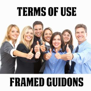 Terms of Use For Framed Guidons