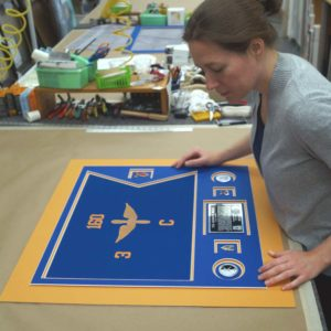 Quality Check On Mat Alignment For An Aviation Guidon Frame Project