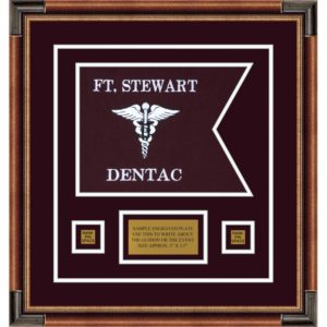 "Dental Corps 12"" x 9"" Guidon Design 129-D1-M1 Framed"