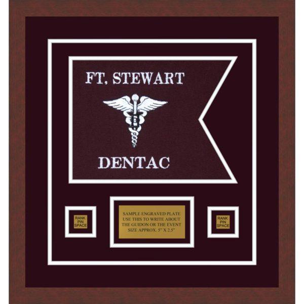 "Dental Corps 12"" x 9"" Guidon Design 129-D1-M3 Framed"