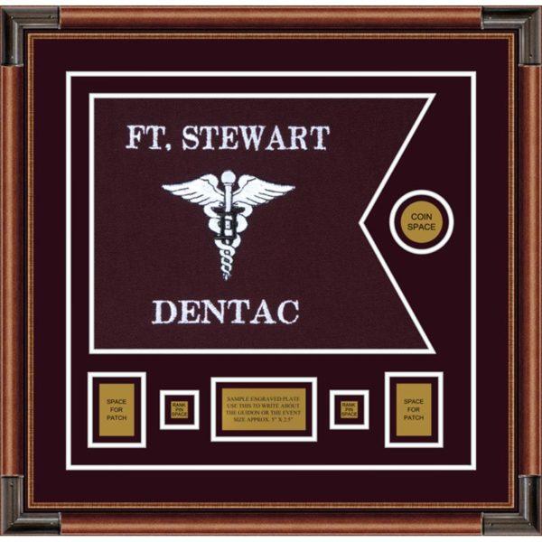 "Dental Corps 20"" x 15"" Guidon Design 2015-D1-M4 Framed"