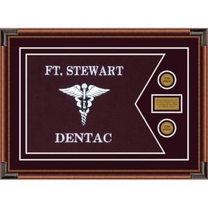 "Dental Corps 28"" x 20"" Guidon Design 2820-D1-M4 Framed"