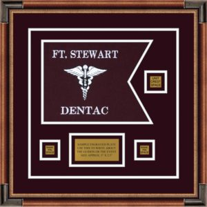 "Dental Corps 12"" x 9"" Guidon Design 129-D2-M1 Framed"