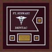 "Dental Corps 12"" x 9"" Guidon Design 129-D2-M3 Framed"