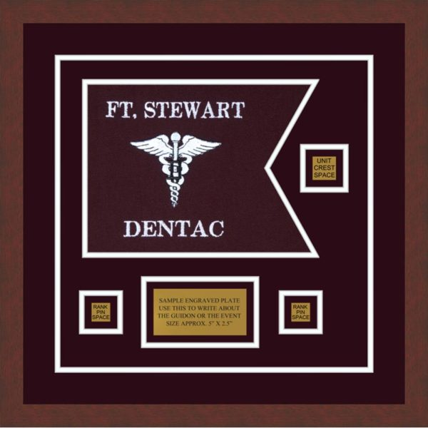 "Dental Corps 12"" x 9"" Guidon Design 129-D2-M3 Framed"