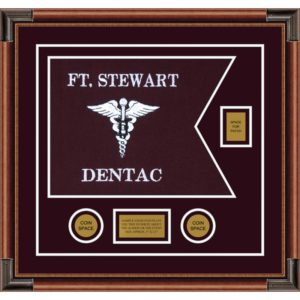 "Dental Corps 20"" x 15"" Guidon Design 2015-D2-M4 Framed"