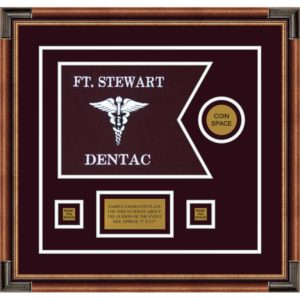 "Dental Corps 12"" x 9"" Guidon Design 129-D3-M1 Framed"