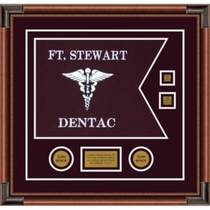 "Dental Corps 20"" x 15"" Guidon Design 2015-D3-M4 Framed"