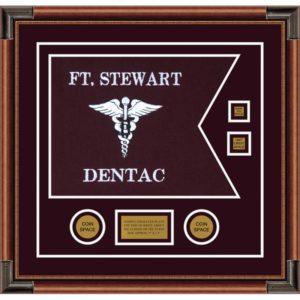 "Dental Corps 20"" x 15"" Guidon Design 2015-D3-M4 Framed"
