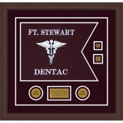"Dental Corps 20"" x 15"" Guidon Design 2015-D3-M6 Framed"