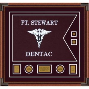 "Dental Corps 28"" x 20"" Guidon Design 2820-D3-M4 Framed"