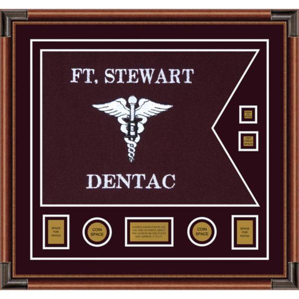 "Dental Corps 28"" x 20"" Guidon Design 2820-D3-M4 Framed"