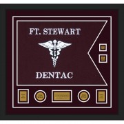 "Dental Corps 28"" x 20"" Guidon Design 2820-D3-M5 Framed"