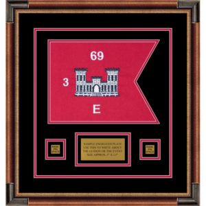 "Engineer Corps 12"" x 9"" Guidon Design 129-D1-M1 Framed"