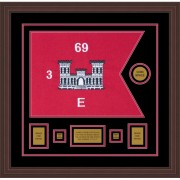 "Engineer Corps 20"" x 15"" Guidon Design 2015-D1-M6 Framed"