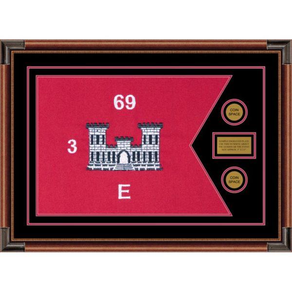 "Engineer Corps 28"" x 20"" Guidon Design 2820-D1-M4 Framed"