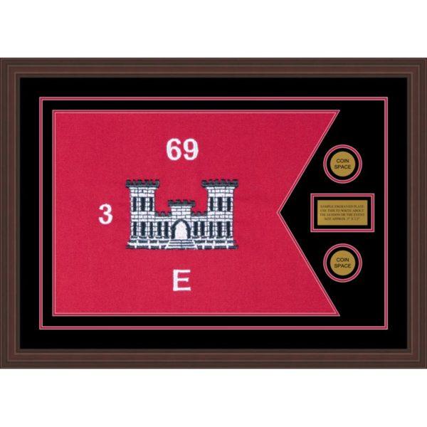 "Engineer Corps 28"" x 20"" Guidon Design 2820-D1-M6 Framed"