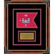 "Engineer Corps 7"" x 5"" Guidon Design 75-D1-M1 Framed"