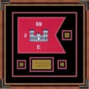 "Engineer Corps 12"" x 9"" Guidon Design 129-D2-M1 Framed"