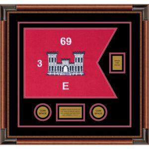 "Engineer Corps 20"" x 15"" Guidon Design 2015-D2-M4 Framed"