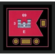 "Engineer Corps 20"" x 15"" Guidon Design 2015-D2-M5 Framed"