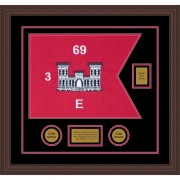 "Engineer Corps 20"" x 15"" Guidon Design 2015-D2-M6 Framed"