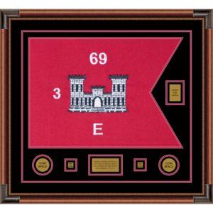 "Engineer Corps 28"" x 20"" Guidon Design 2820-D2-M4 Framed"
