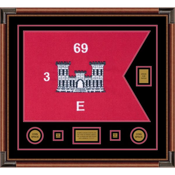 "Engineer Corps 28"" x 20"" Guidon Design 2820-D2-M4 Framed"