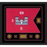 "Engineer Corps 28"" x 20"" Guidon Design 2820-D2-M5 Framed"