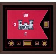 "Engineer Corps 28"" x 20"" Guidon Design 2820-D2-M6 Framed"