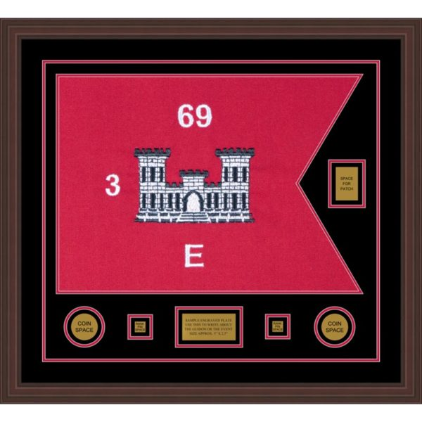 "Engineer Corps 28"" x 20"" Guidon Design 2820-D2-M6 Framed"