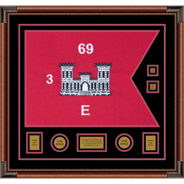 "Engineer Corps 28"" x 20"" Guidon Design 2820-D3-M4 Framed"