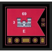"Engineer Corps 28"" x 20"" Guidon Design 2820-D3-M5 Framed"