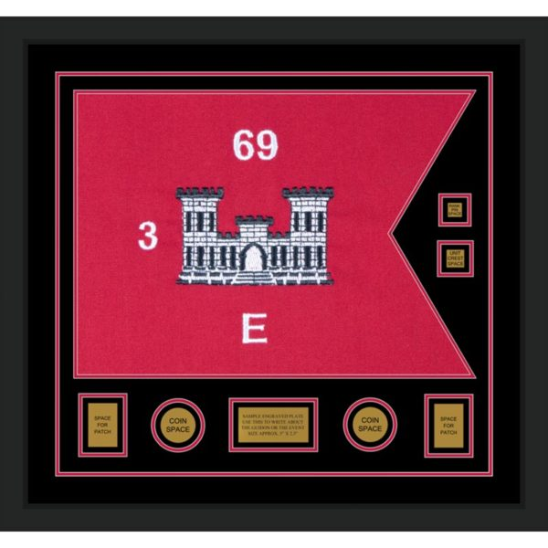 "Engineer Corps 28"" x 20"" Guidon Design 2820-D3-M5 Framed"
