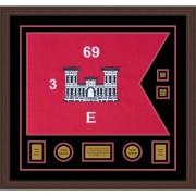 "Engineer Corps 28"" x 20"" Guidon Design 2820-D3-M6 Framed"