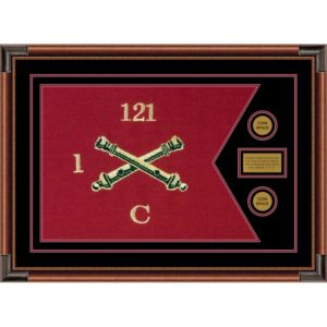 "Field Artillery 28"" x 20"" Guidon Design 2820-D1-M4 Framed"