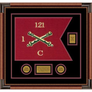 "Field Artillery 20"" x 15"" Guidon Design 2015-D2-M4 Framed"