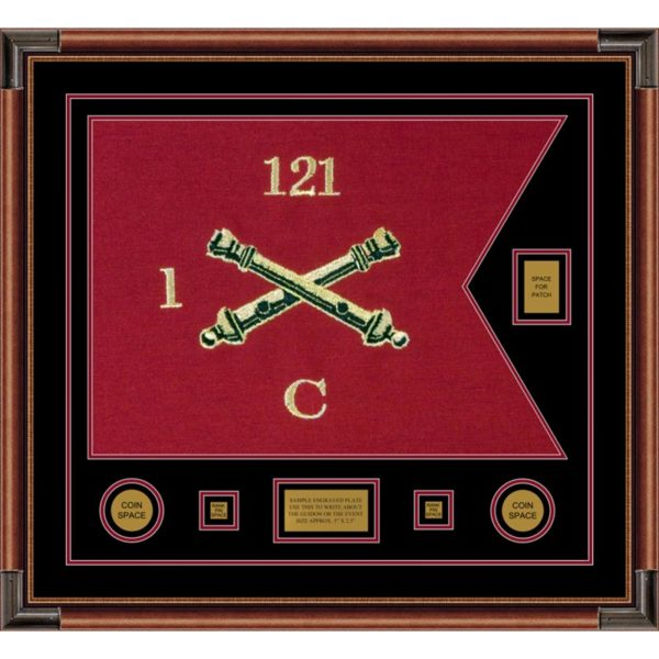 "Field Artillery 28"" x 20"" Guidon Design 2820-D2-M4 Framed"